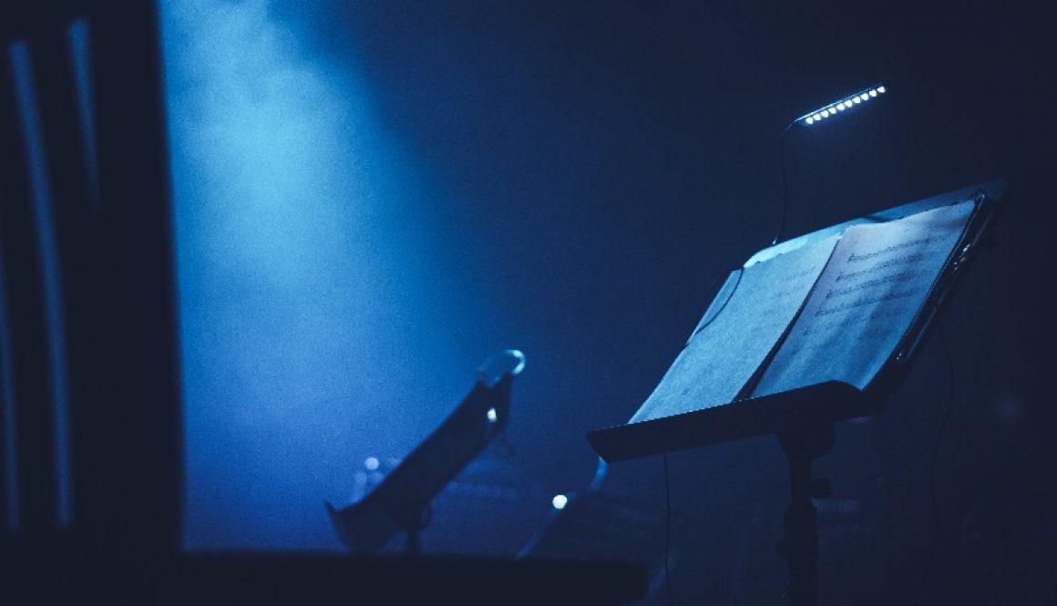 blue lights backstage